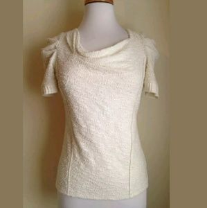 Anthropologie Postmark Ivory Terry Textured Top XS